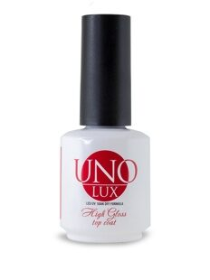 Uno Lux, Верхнее покрытие High Gloss Top Coat,15 мл