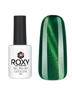 ГЕЛЬ-ЛАК ROXY NAIL COLLECTION CAT'S EYE 166-ЗЕЛЕНЫЙ САПФИР (10 ML)
